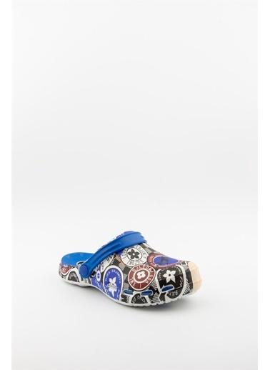 Akınal Bella  Baskılı Kadın Sandalet Terlik Renkli